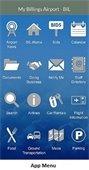 Billings Airport app menu