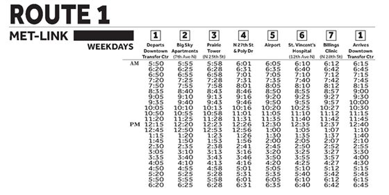 Schedule to Airport